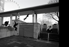 Parkour at the South Bank