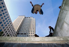 Parkour at the South Bank in London